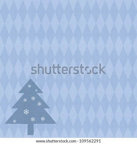 christmas pattern on textured paper
