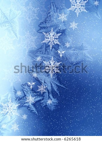 Christmas pattern on window