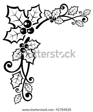 Christmas Holly Template | New Calendar Template Site
