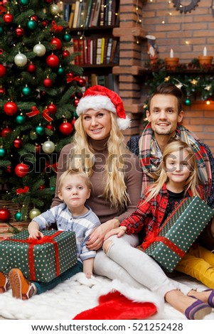Christmas picture of beautiful family