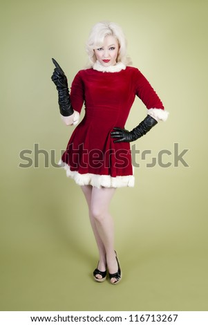 Christmas Pin Up Girl