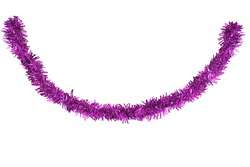 Christmas pink tinsel isolated on white background. This has clipping path.
