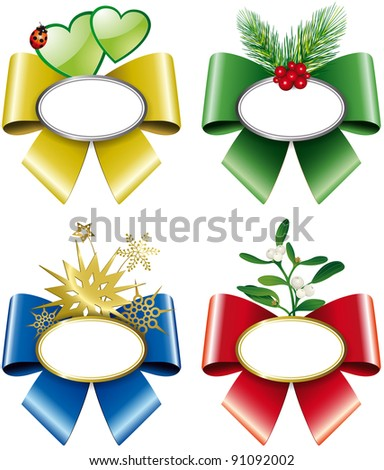 Christmas plates with colored flakes