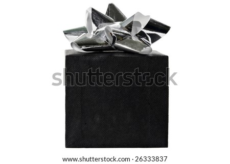 christmas present isolated - stock photo