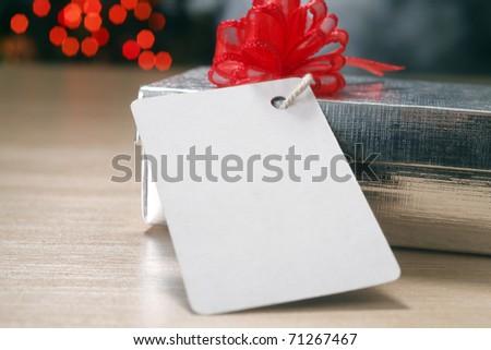 Christmas present with christmas tree