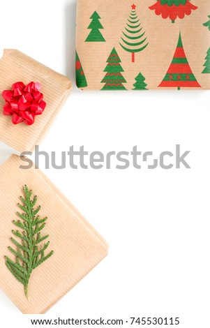Christmas presents background #745530115