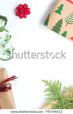 Christmas presents background #745546612