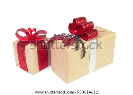 Christmas presents isolated #530614612