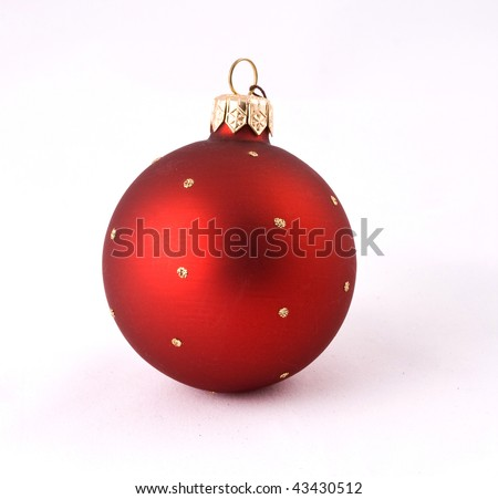 Christmas red ball isolated on a white background