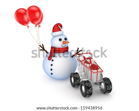 Christmas sale concept.Isolated on white background.3d rendered.