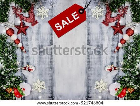 Christmas Sale, Xmas promotion, Shopping background