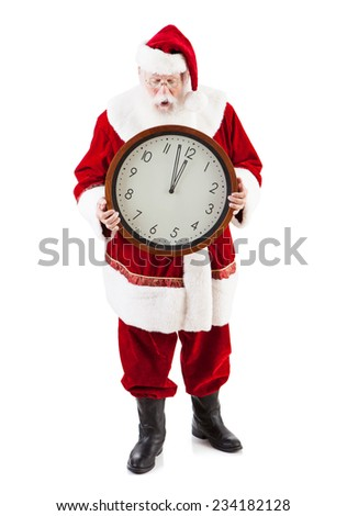 stock photo: late santa