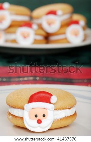Christmas Santa Face Cookies