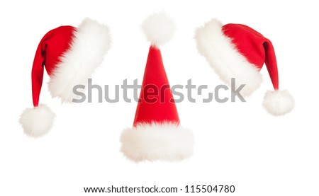 Christmas Santa hat - stock photo