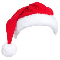 4ae12752efef3 Christmas santa hat isolated on white background. designed to easily put on  persons head.