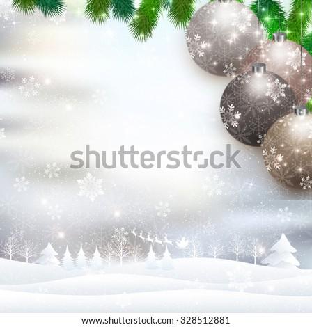 Christmas Santa snow #328512881