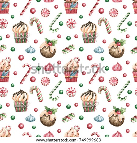 Christmas seamless background.