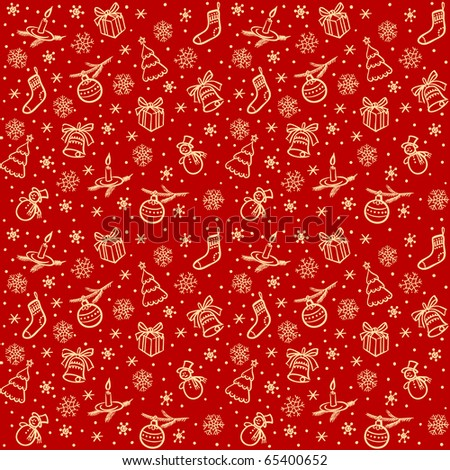 Christmas seamless red background