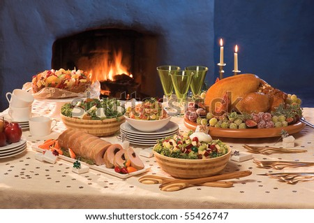 Christmas Served Table