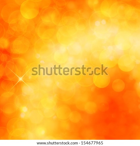 Christmas shiny background with lights and copy space in golden yellow  colors