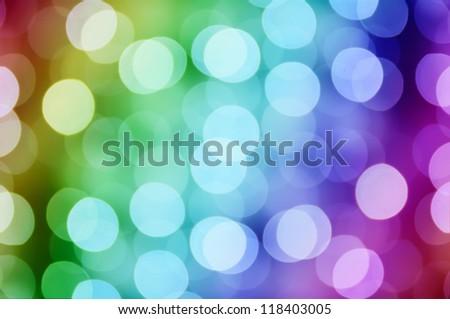 Christmas shiny light bokeh in  rainbow  colors