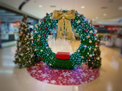Christmas shooting corner in the mall.