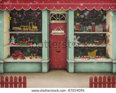 Christmas  shop.