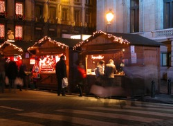 Christmas Shopping at the streets of Belgium.