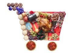 Christmas shopping cart symbol concept