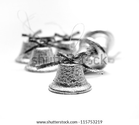 Christmas silvery bells