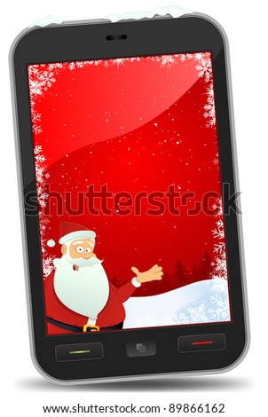 stock photo : Christmas Smart phone Wallpaper/ Illustration of a smart phone ...