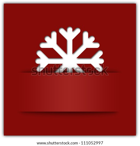 Christmas snowflake applique graphic background red