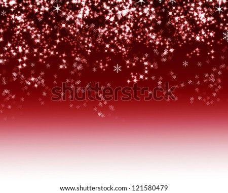 Christmas snowflake on red background