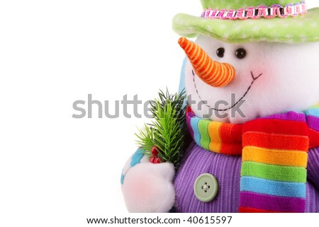 Christmas snowman isolated on a white background #40615597