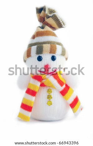 Christmas snowman isolated on a white background #66943396
