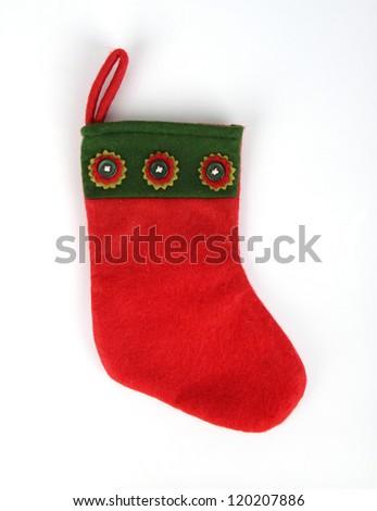 christmas socks on white background