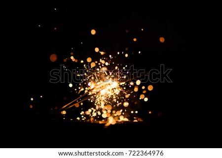 christmas sparkler #722364976