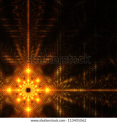 Christmas star  on black background. Abstract background.
