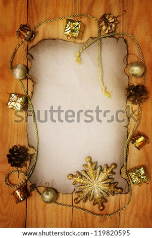 Christmas still life on a wooden background