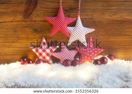Christmas Still Life With Stars And Baubles #1552356326
