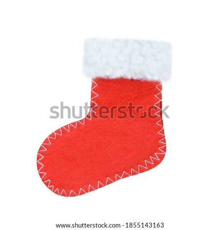 Christmas stocking isolated on white background ストックフォト ©