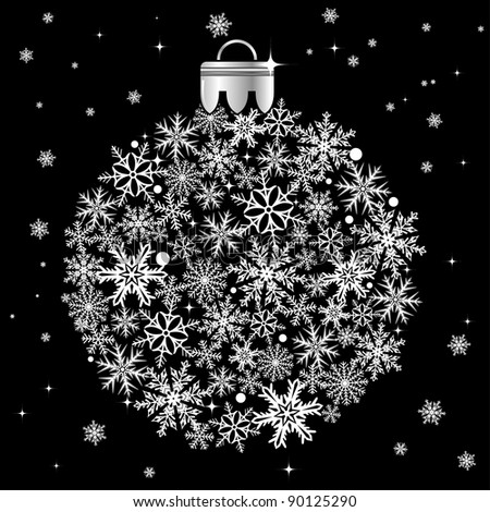 Christmas stylized bauble, element for design, raster version
