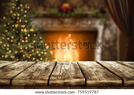 Christmas table with space for advertising product or text #759519787