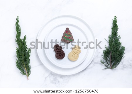 Christmas tableware decoration #1256750476
