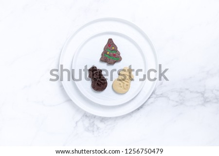 Christmas tableware decoration #1256750479