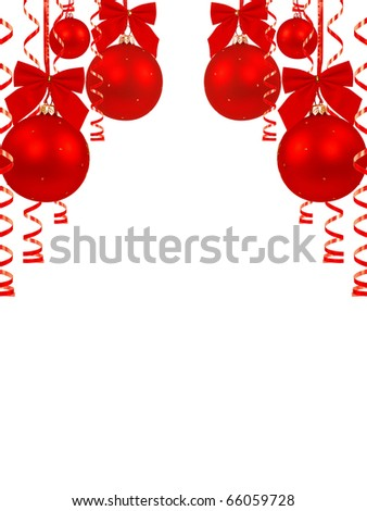 Christmas toy white background