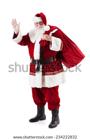 stock photo: friendly santa