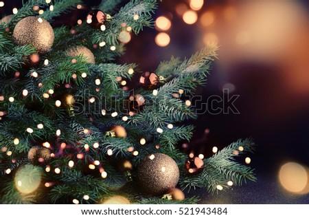 Christmas tree  - Shutterstock ID 521943484