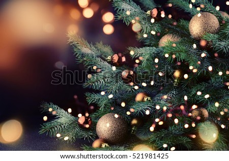 Christmas tree  - Shutterstock ID 521981425