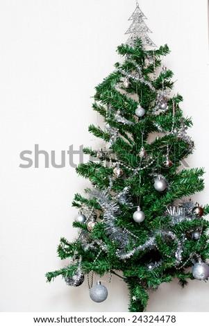 Christmas tree against white background